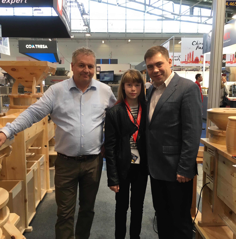 Демидов Леонид и Софья Демидова от компании SHELDEM и Дитер Вальднер от Waldner Biotech Gmbh